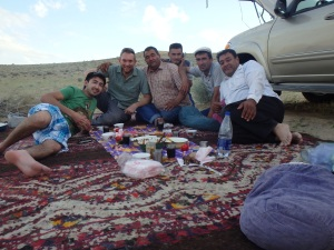 Aziz, myself, Bayram, Gurban, Gaip, and Dovran