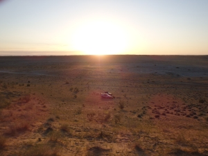 Sunrise at the Darvaza Gas Crater