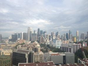 City views of downtown Singapore (Singapore)