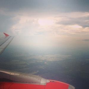 First sight of India. Kolkata from the Air. (Kolkata, India)