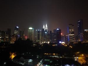 Night view of Petronas Towers (Kuala Lumpur, Malaysia)